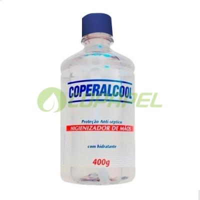 ÁLCOOL GEL P/MÃOS COPERALCOOL FLIP TOP 400ML
