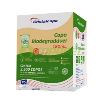 COPO BIODEGRADÁVEL PS 180ML C/2500