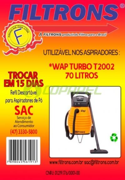 FILTRO WAP TURBO 2001/2002 DESCARTÁVEL