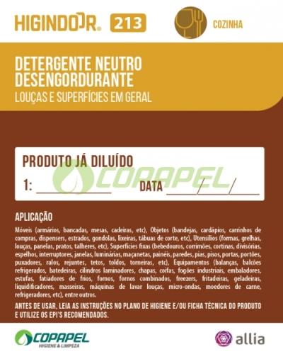 ADESIVO HIGINDOOR 213 - 8x10cm -  PRODUTO DILUÍDO