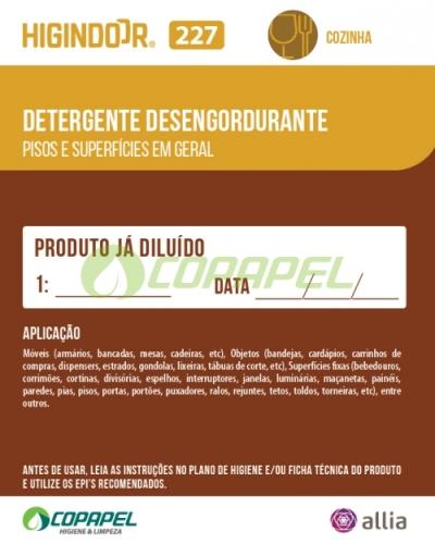 ADESIVO HIGINDOOR 227 - 8x10cm -  PRODUTO DILUÍDO