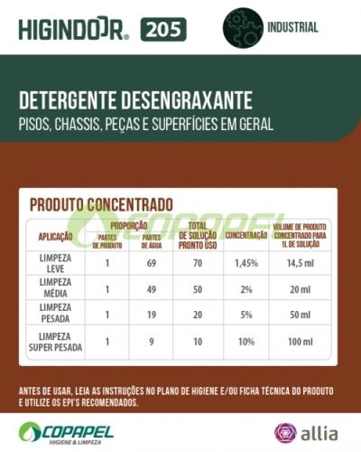 ADESIVO HIGINDOOR 205 - 8x10cm -  PRODUTO CONCENTRADO