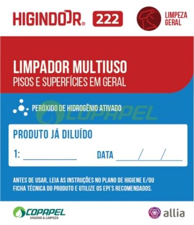 ADESIVO HIGINDOOR 222 - 6x7cm -  PRODUTO DILUÍDO