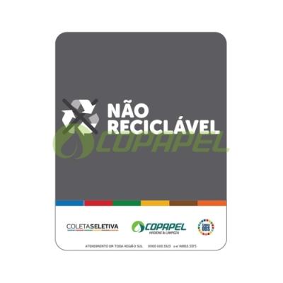 Adesivo Coleta Seletiva CINZA / NÃO RECICLÁVEL